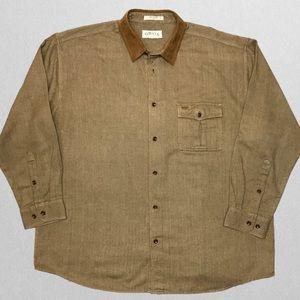 Orvis Houndstooth Herringbone Suede Dress Shirt